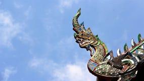 Stor naga som dekoreras med målat glass fotografering för bildbyråer