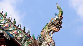 Stor naga som dekoreras med målat glass royaltyfri bild