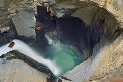 Stor nedgång från Trà ¼mmelbach Fälle (vattenfallet) Royaltyfri Foto