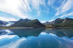 stor norr norway nederbördsommar Arkivbilder