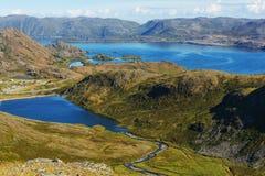 stor norr norway nederbördsommar Royaltyfri Foto