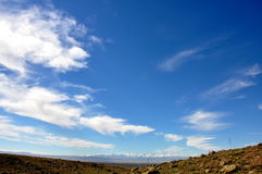 Stor och blå himmel Royaltyfria Foton