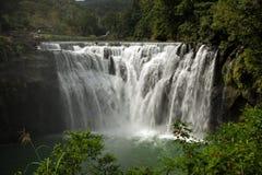 Stor och bred Shifen vattenfall i Taiwan Arkivbild