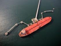 Stor olje- tankfartyg Arkivfoton