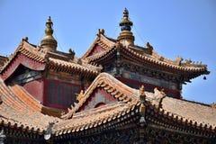 Stor opera Hall i Peking, Kina Arkivbilder
