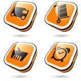 stor orange för symboler Arkivbilder