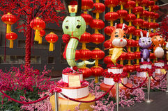 Stor ormlykta, garnering under det kinesiska nya året 2013 Royaltyfria Bilder