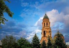 Stor ortodox kyrka i Kharkov, Ukraina arkivfoto
