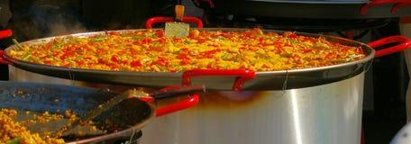 Stor paella Royaltyfri Bild