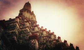 Stor pagod på wat Arun royaltyfri fotografi