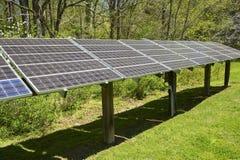 Stor panelsamling för sol- energi Royaltyfri Bild