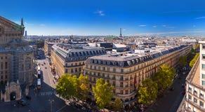 Stor panorama Paris, operan Garnier som för flyg- sikt söder-är västra Royaltyfri Bild