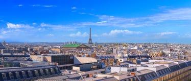 Stor panorama Paris, söder-västra del, centrum för flyg- sikt, Royaltyfri Bild