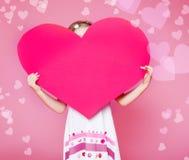 Stor pappers- hjärta Fotografering för Bildbyråer