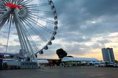 Stor pariserhjulhimmelbakgrund Fotografering för Bildbyråer