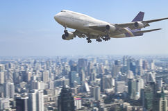 stor passagerare för flygplan Arkivbild