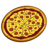Stor pizza Fotografering för Bildbyråer