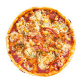stor pizza Arkivfoton