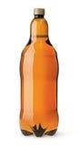 Stor plast- flaska med öl Arkivfoto