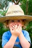 stor pojkehatt little Fotografering för Bildbyråer