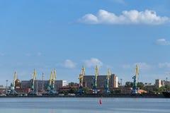 Stor port St Petersburg Arkivfoto