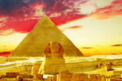 Stor pyramid Royaltyfri Foto