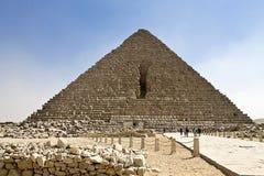 Stor pyramid av Cheops Arkivfoton