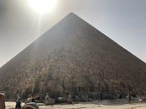 Stor pyramid av Gizaï ¼ˆPyramid av Khufuï ¼‰, arkivbilder