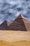 Stor pyramid Cheops i Giza, Egypten lopp Arkivfoton