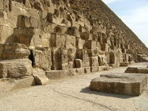 Stor pyramid Egypten royaltyfri bild