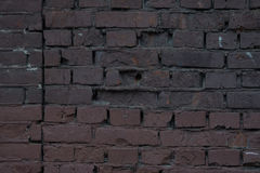 Stor röd brun gammal sjaskig textur för bakgrund för fyrkant för tegelstenvägg Grungy texturerade Clay Brick Royaltyfria Bilder