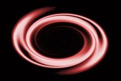 Stor röd cirkel Arkivbild