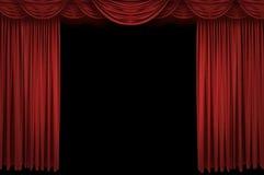 stor röd etapp för gardin Royaltyfri Foto