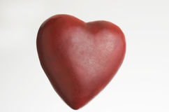 Stor röd hjärta Arkivbild