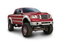 Stor röd lastbil Arkivbild
