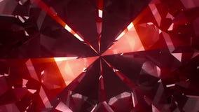 Stor röd snurrädelsten royaltyfri illustrationer