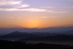 stor rökig bergnationalpark Arkivfoto