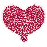 Stor röd romantisk hjärta Arkivfoto