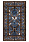 Stor rektangulär matta Arkivbilder