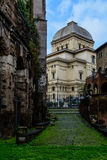 stor rome synagoga Arkivbild
