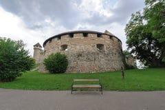 Stor rondella för Buda slott arkivbilder