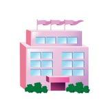 Stor rosa byggnad för symbol Royaltyfria Bilder