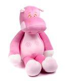 Stor rosa mjuk leksakflodhäst Fotografering för Bildbyråer