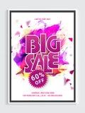 Stor Sale affisch, baner eller reklambladdesign Fotografering för Bildbyråer