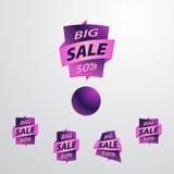 Stor Sale etikettuppsättning Arkivfoton