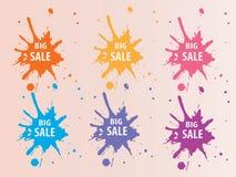 Stor Sale färgstänk Backround Arkivfoton