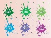 Stor Sale färgstänk Backround Arkivbilder