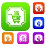 Stor samling för försäljningsklistermärkeuppsättning Royaltyfria Bilder