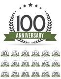 Stor samlingsuppsättning av mallen Logo Anniversary Vector Illustrat Royaltyfria Bilder