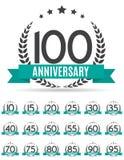 Stor samlingsuppsättning av mallen Logo Anniversary Vector Illustrat Royaltyfri Fotografi